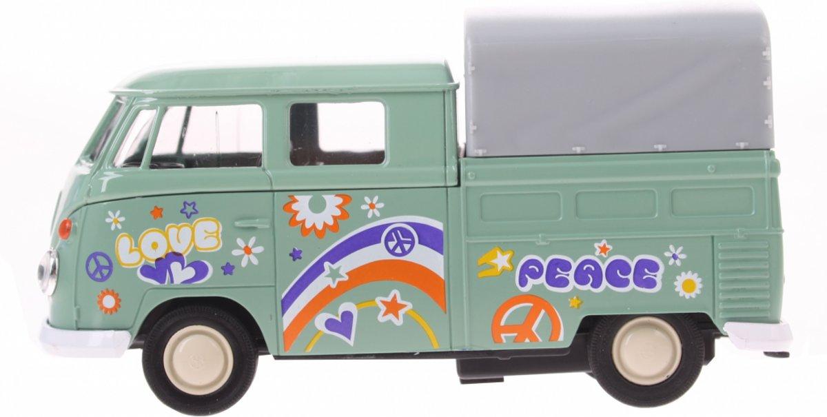 Goki Volkswagen T1 Doka Pick-up Peace Groen 11 Cm kopen