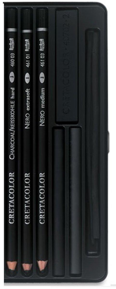 Cretacolor Nero deep black pocketset blik 6st. kopen