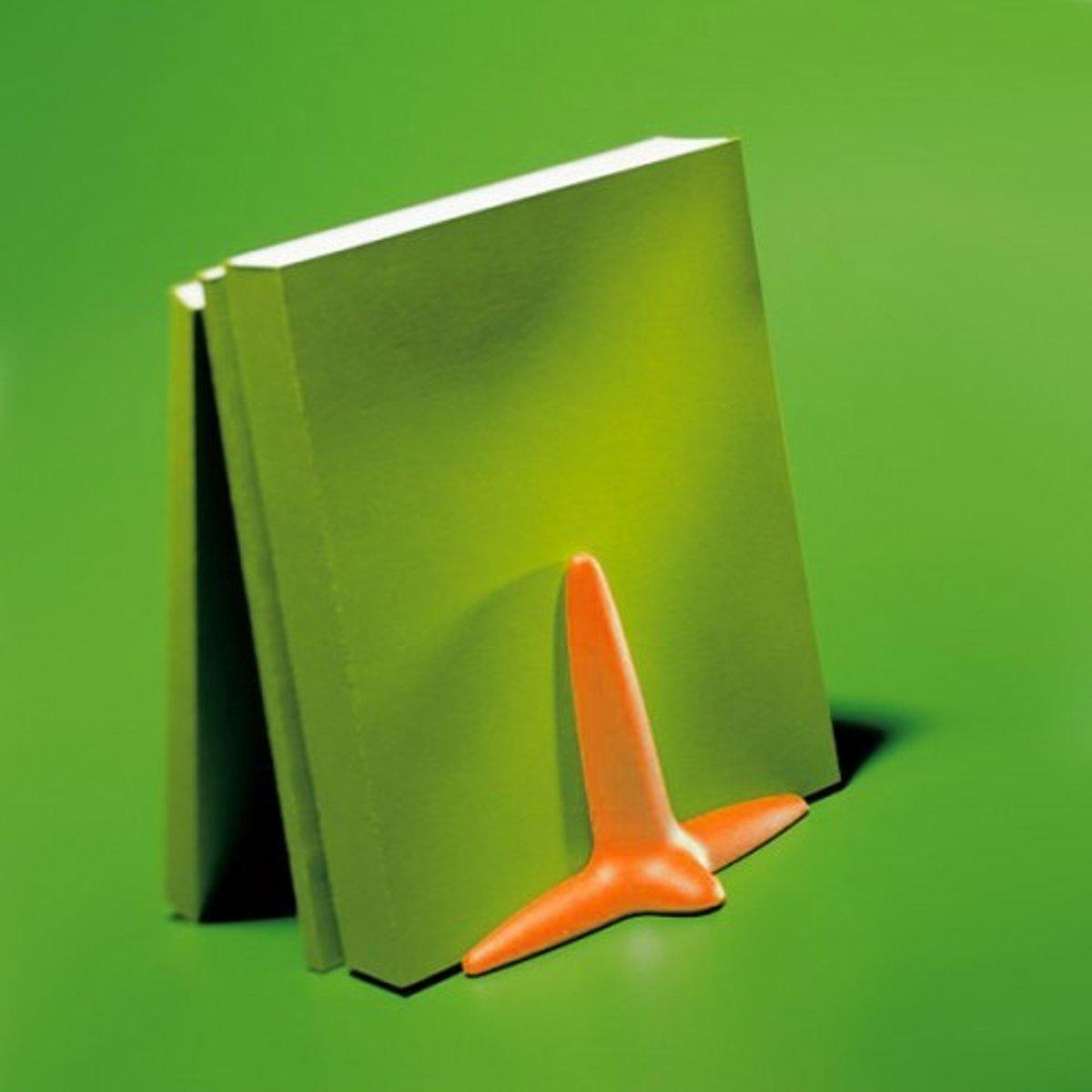 Boekensteun Up kunststof ijsoranje kopen