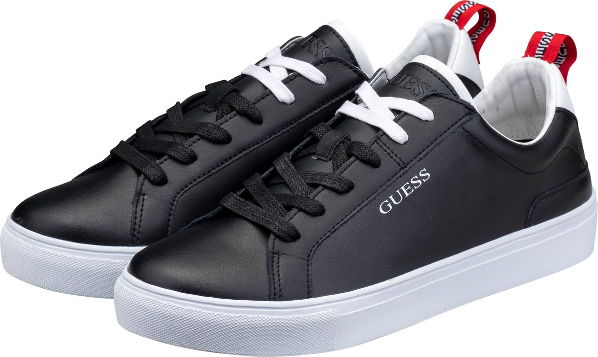 | GUESS LUISS LOW H Lage sneakers Heren Zwart;Wit