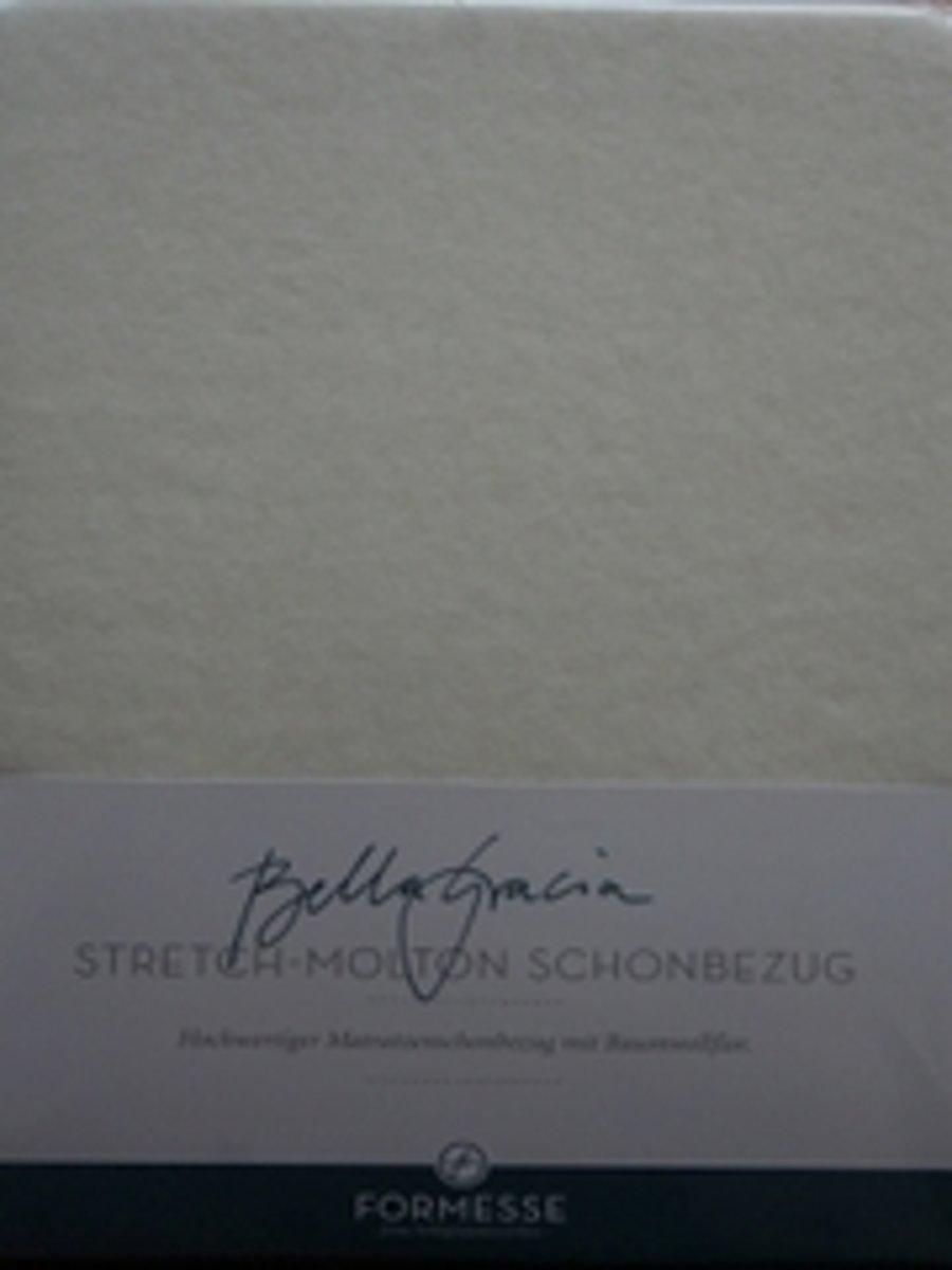 Stretch-molton Bella Gracia - ecru - 90/100 x 190-220 kopen