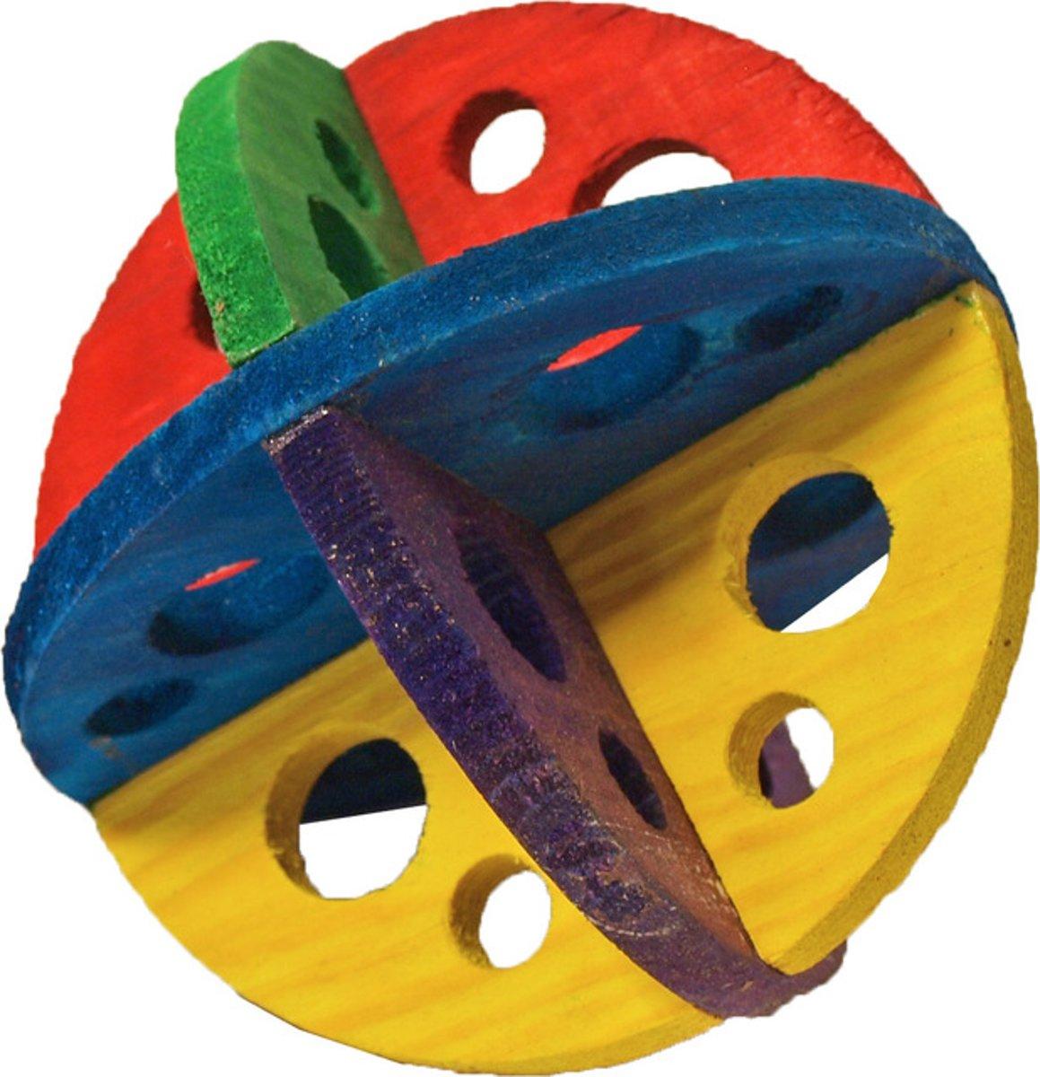 Houten knaagdierspeelgoed bal 14 cm