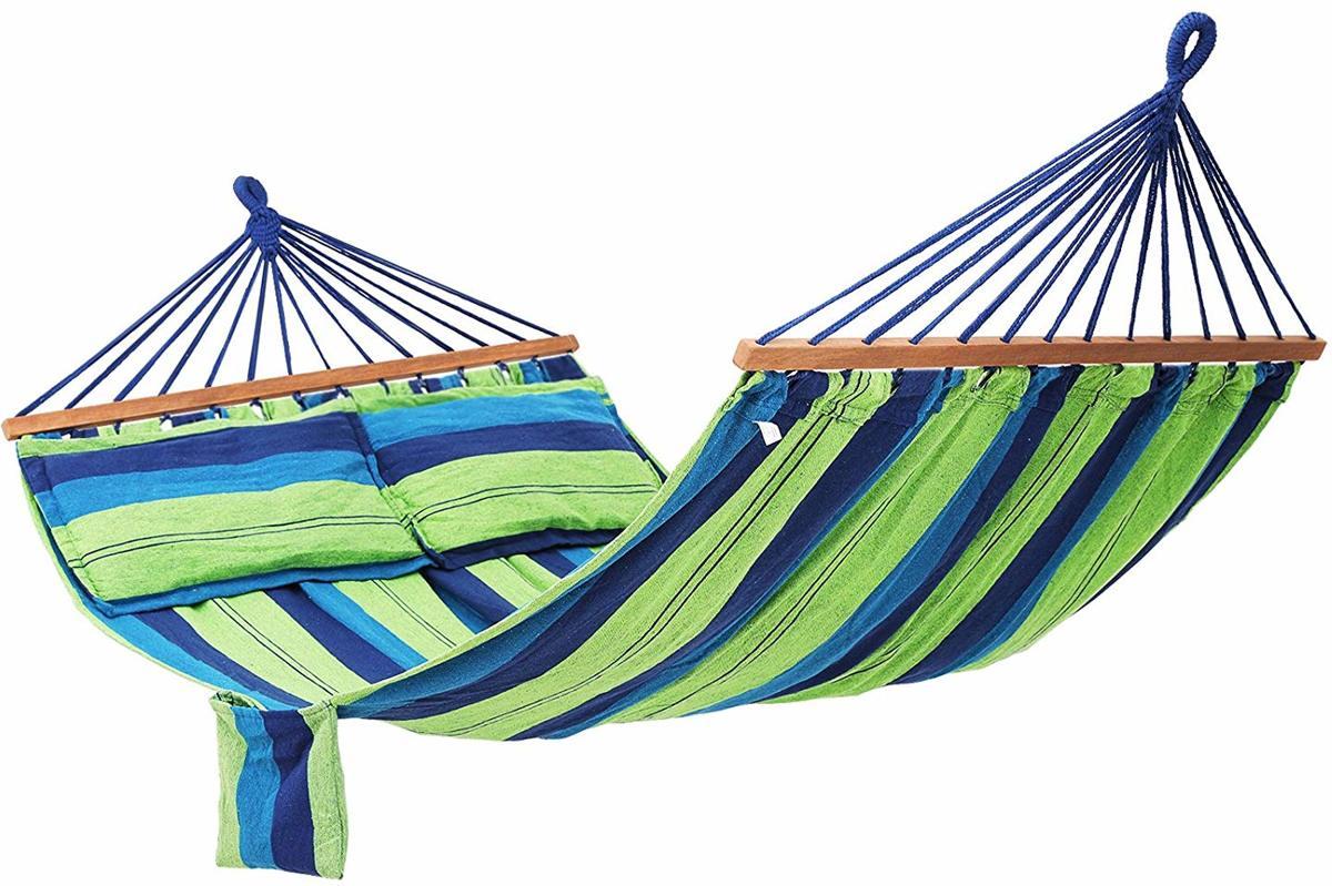 Plant&More - Hangmat - Liggend - Blauw/Groen