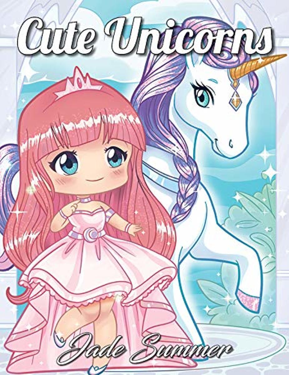 Cute Unicorns - Jade Summer Adult Coloring Book kopen