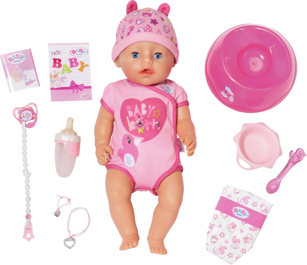 BABY born babypop Soft Touch 43 cm roze 8 delig