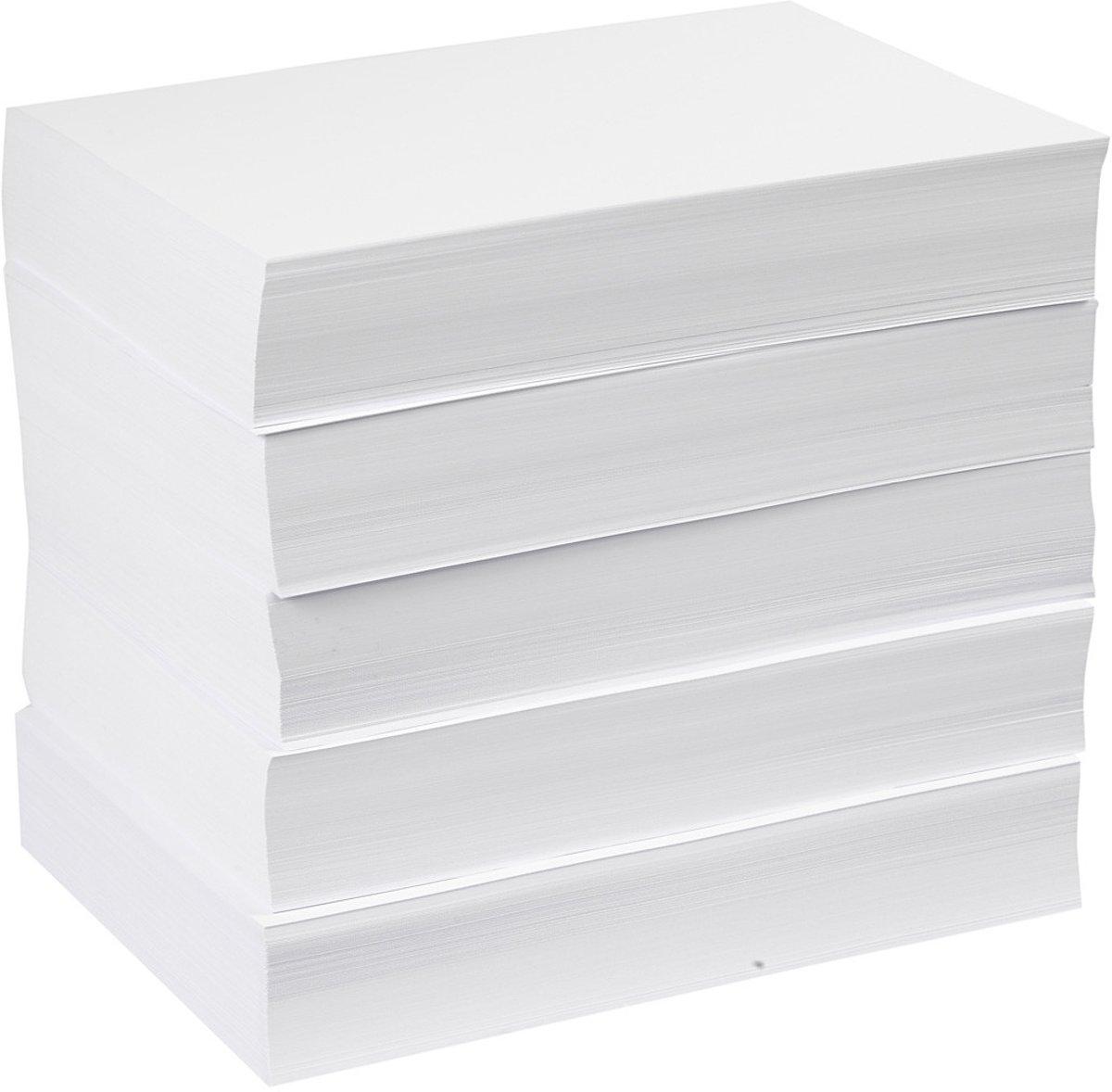 Tekenpapier/kopieerpapier, A4 210x297 mm,  80 gr, wit, 5x500vellen [HOB-20420] kopen