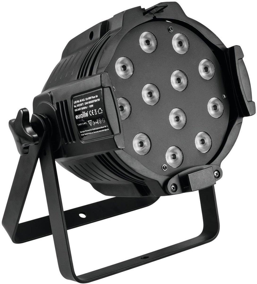 EUROLITE LED ML-56 HCL 12x10W vloer zwart - LED Par kopen