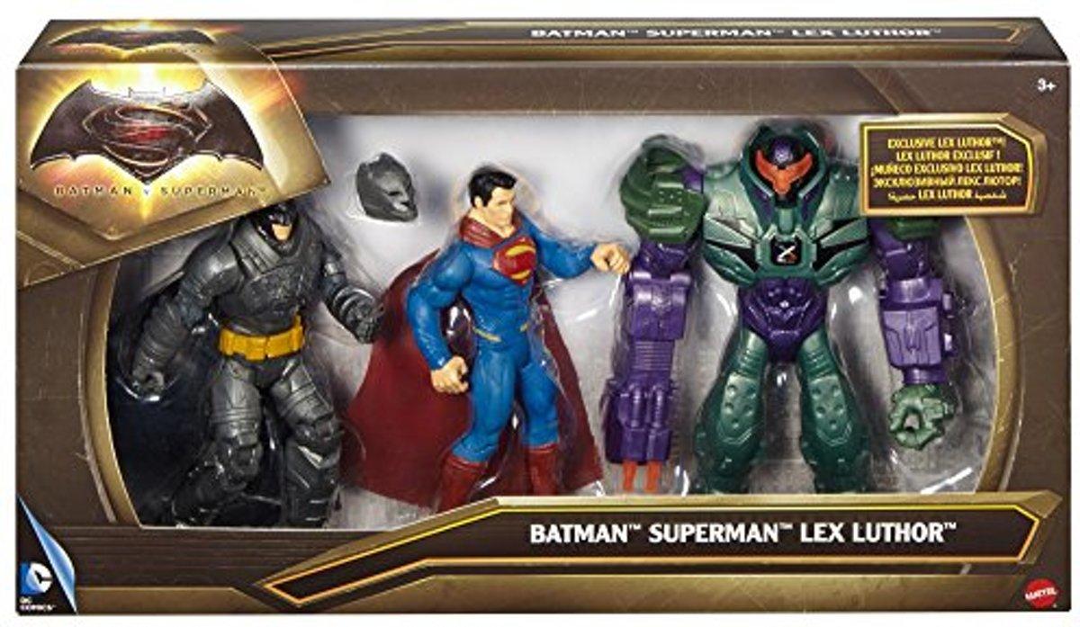 dc comics batman Vs Superman  Superman , Batman en Lex Luthor kopen