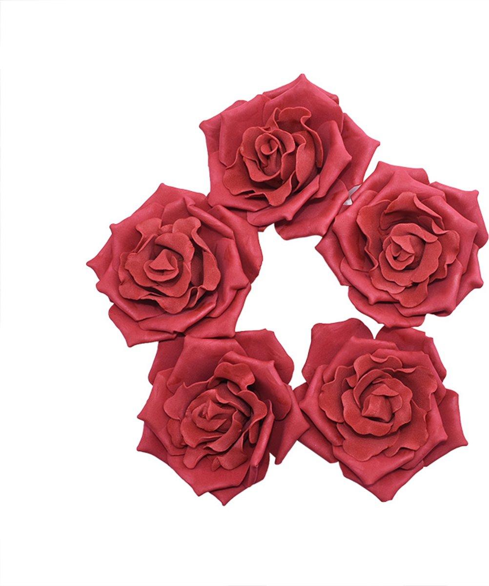 30x Schuimrozen | Foam Flower | 4cm | Burgundy kopen