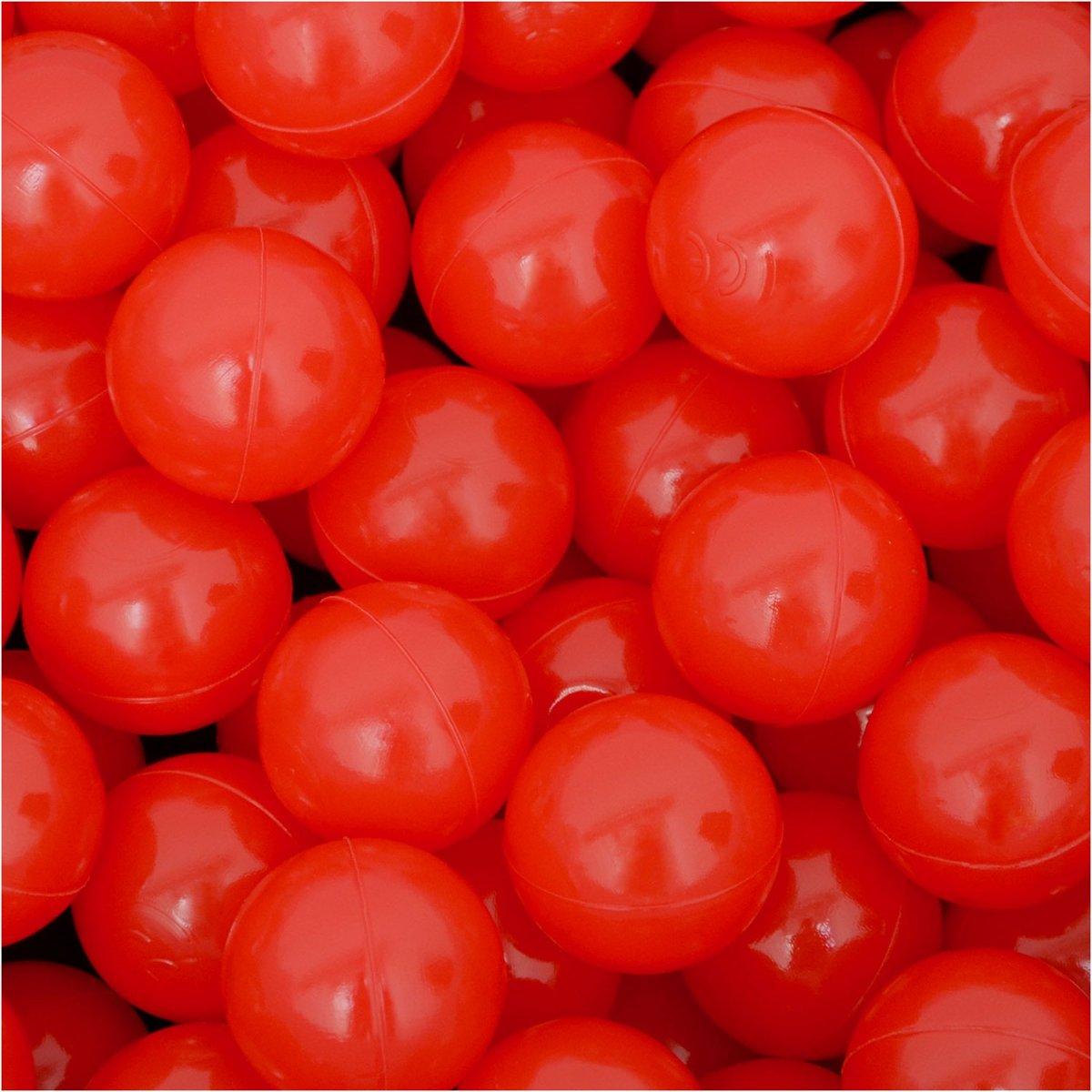50 Babybalballen 5,5 cm Kinderballenbadje Kunststofballen Babyballen Rood