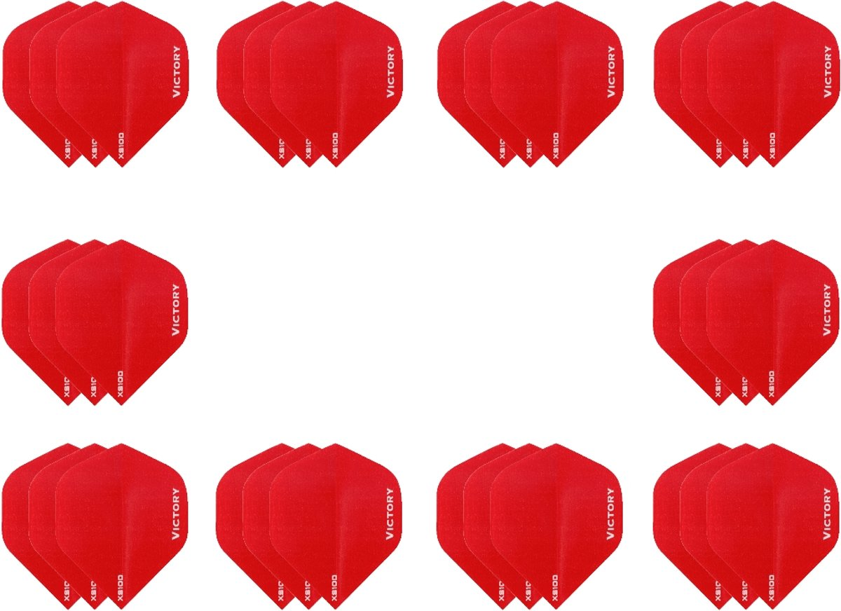 10 sets (30 stuks) Super Sterke Rode Poly XS100 - flights - dartflights kopen