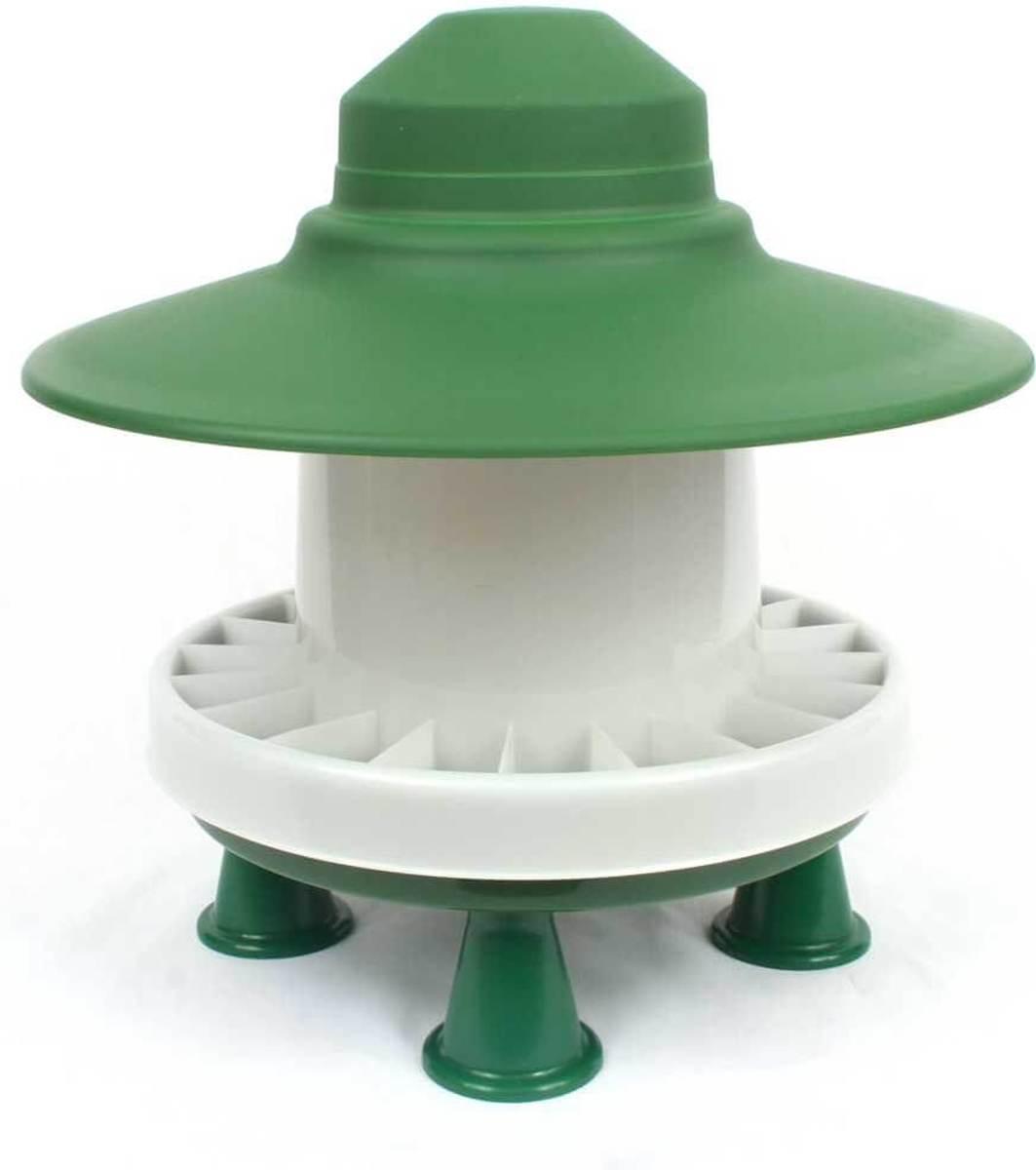 Kleine kippenvoerbak met regenscherm kopen