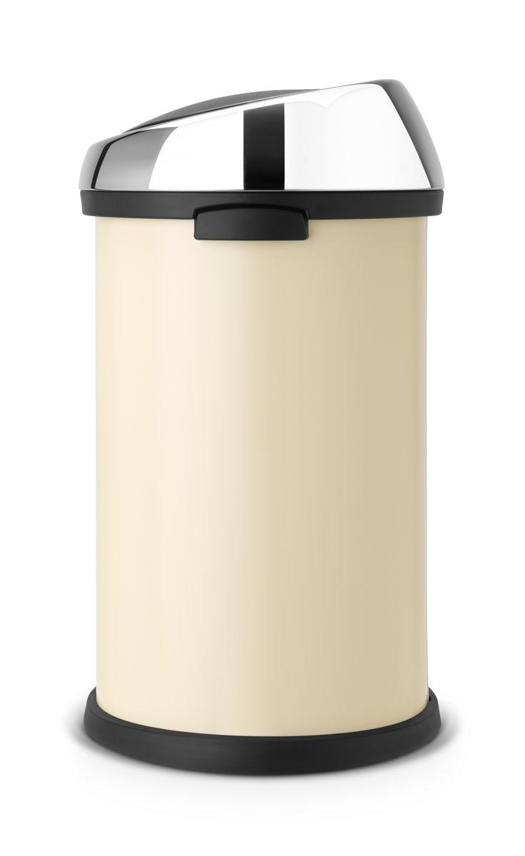 Brabantia Touch Bin 50 Liter Zwart.Brabantia Touch Bin Prullenbak 50 L Almond Brilliant Steel