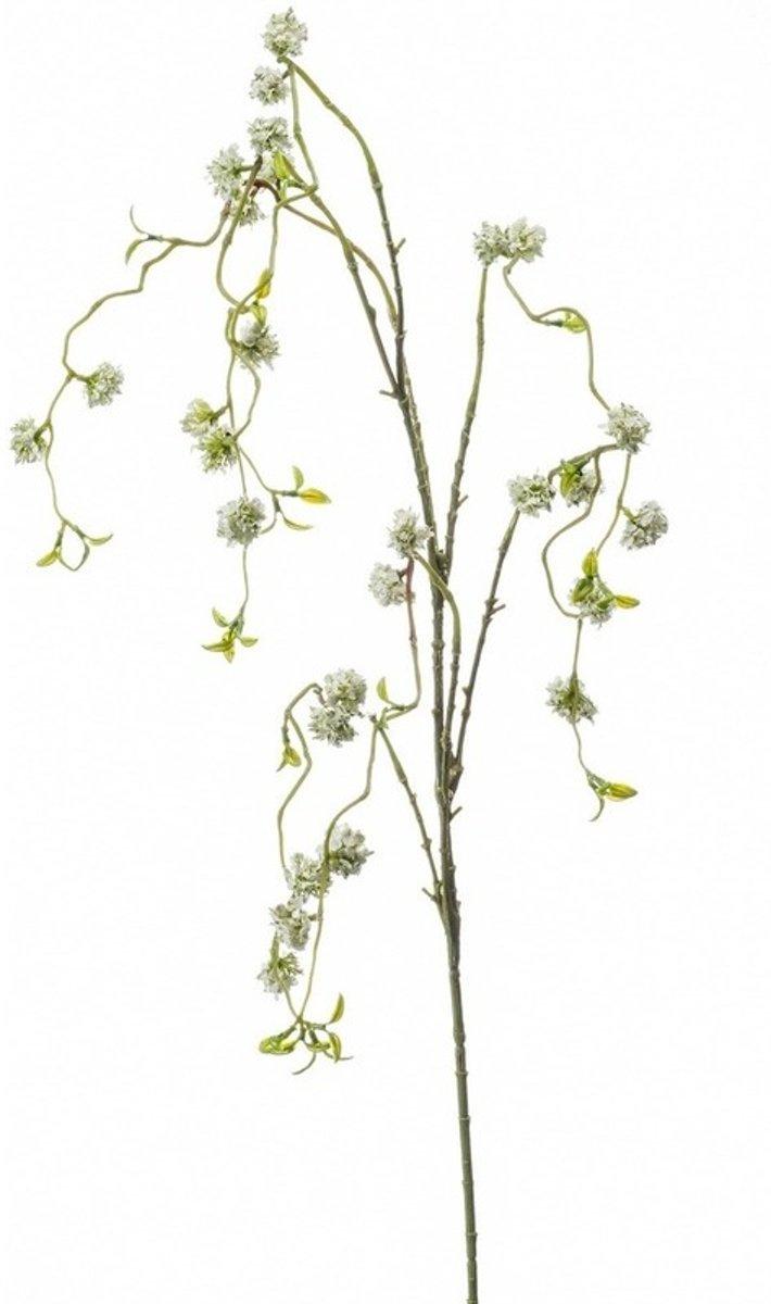 Kunst witte wilgen bloesemtak 105 cm - kunstbloem/ plant kopen