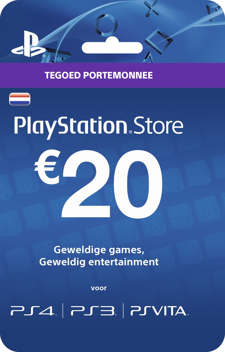 Nederlands Sony Playstation Network Psn Giftcard Kaart 20 Card Euro Nederland Ps4 Ps3