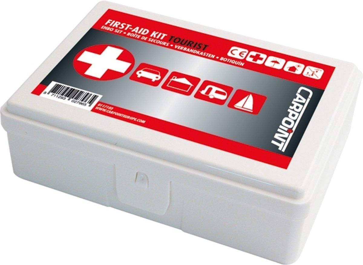 Foto van Carpoint Verbanddoos Auto- Verbandtrommel Auto - Auto EHBO SET - First Aid Kit - Geschikt voor in Auto - Boot - Caravan of Huis