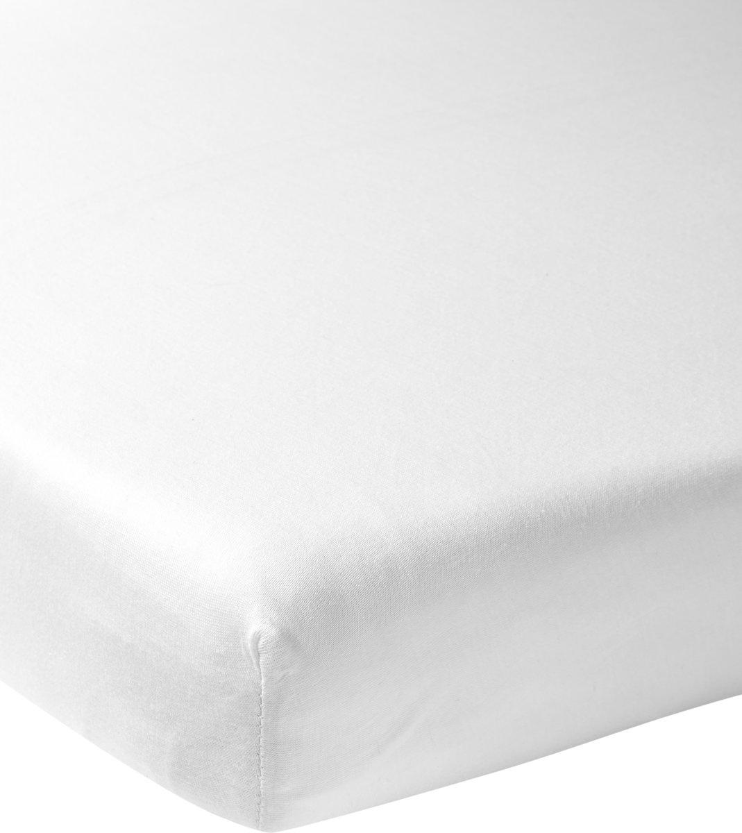 Meyco jersey hoeslaken - 70 x 140/150 cm - wit
