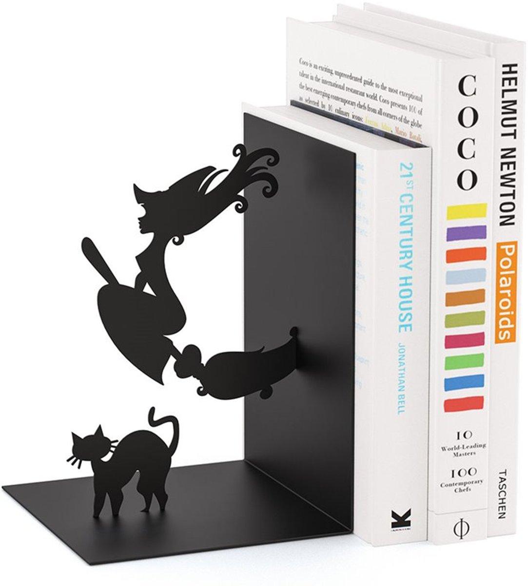 Balvi boekensteun Heks op bezem Zwart Metaal kopen