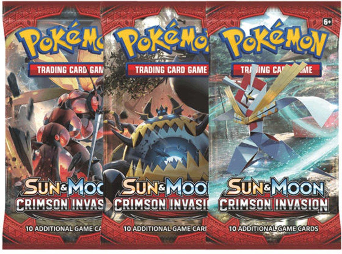 Pokemon 3 Booster Pakjes Sun & Moon Crimson Invasion kopen