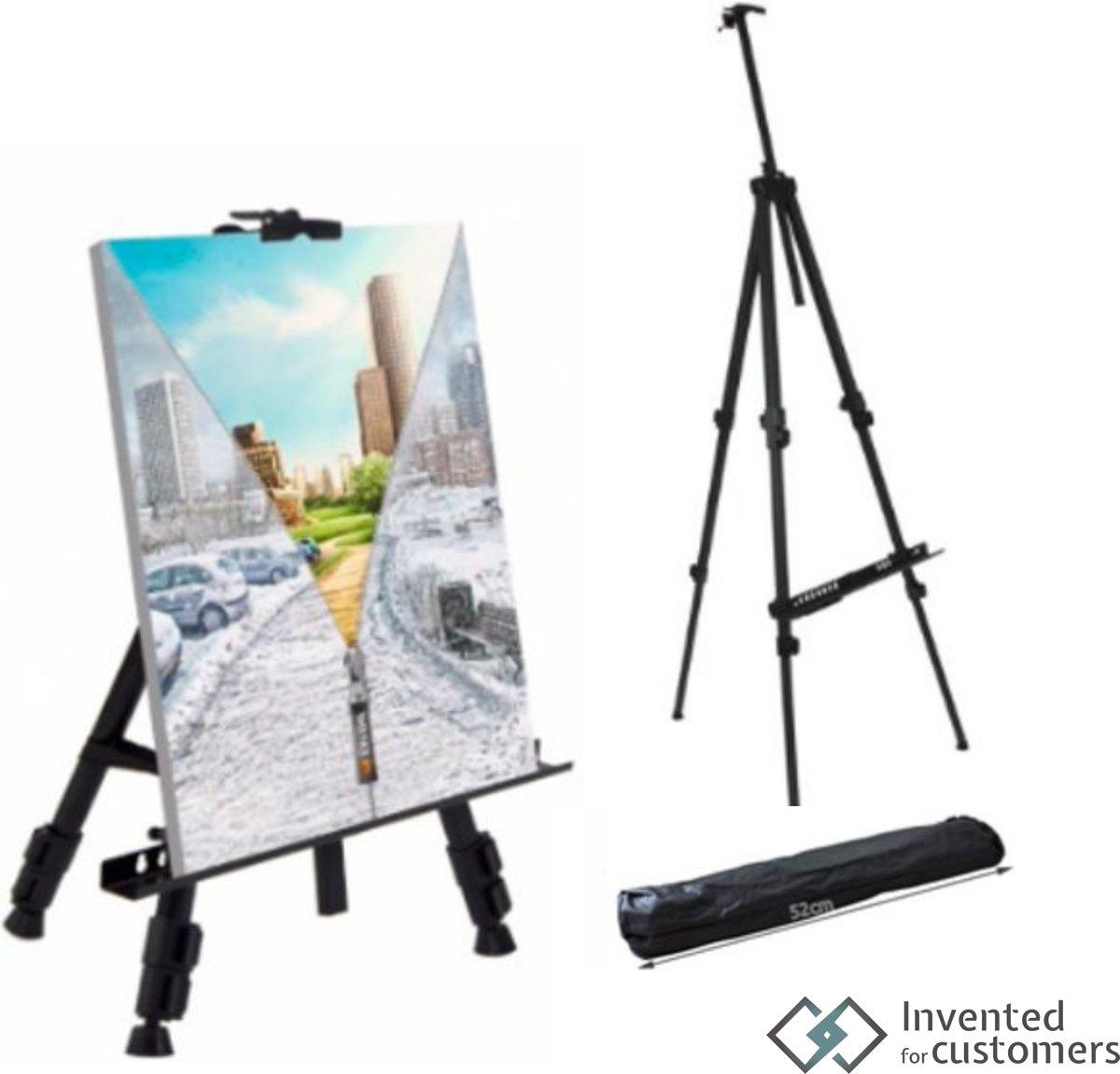 Professionele schildersezel - Aluminium lichtgewicht veldezel - Inclusief luxe draagtas - Schilderij standaard kopen