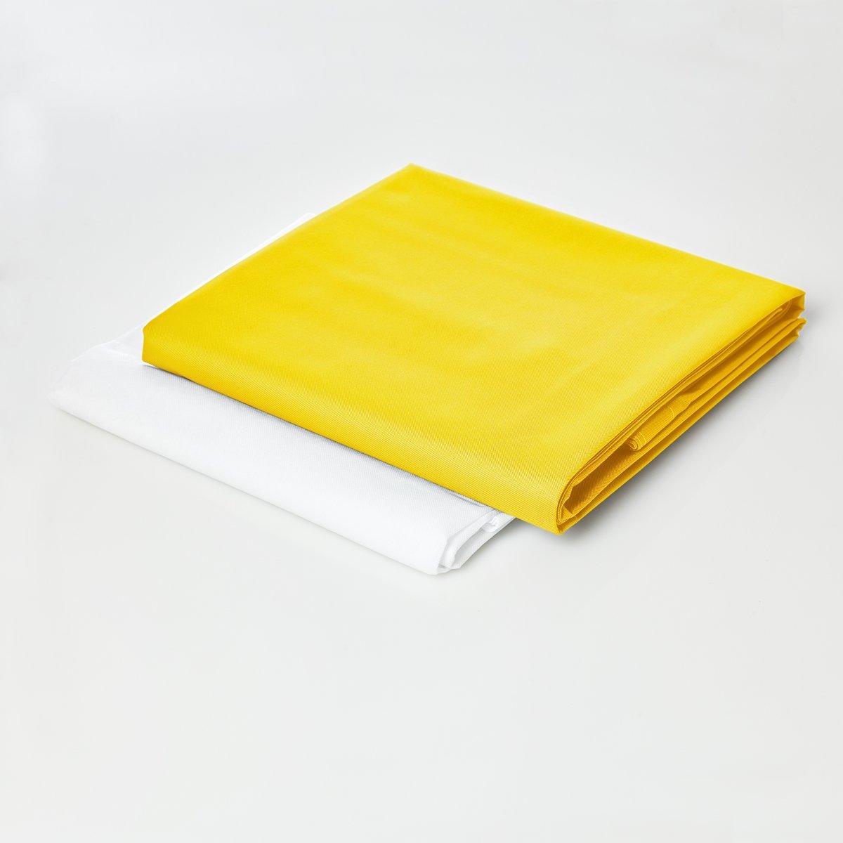 Lumaland - Hoes van luxe XXL zitzak - enkel de hoes zonder vulling - Volume 380 liter - 140 x 180 cm - gemaakt van PVC / Polyester - Geel kopen