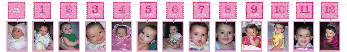 Amscan Verjaardagsslinger Met Foto's Meisje 365 Cm Roze kopen