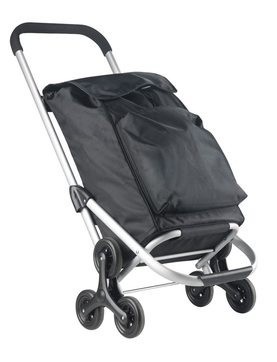 162f608a50e Shopping Cruiser Boodschappentrolley - Handige Trappenloper - Boodschappen  wagen - Zwart