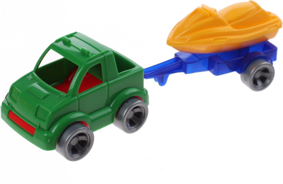 Wader Kids Cars Aanhanger Met Jetski Groen/geel kopen