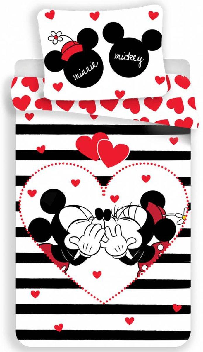 Disney Minnie Mouse Stripe - Dekbedovertrek - Eenpersoons - 140 x 200 cm - Multi kopen