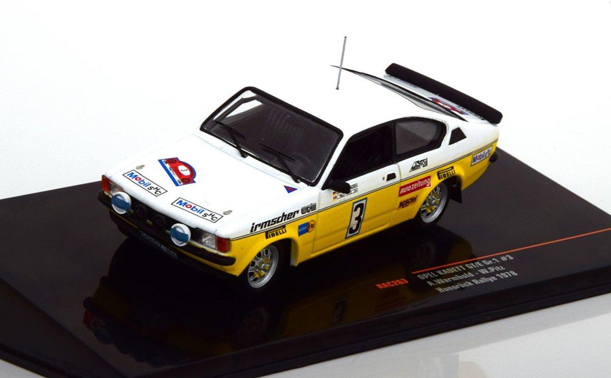 Opel Kadett GT/E Gr.1 No.3, Hunsrück Rally 1978 Warmbold/Pitz 1-43 Ixo Models