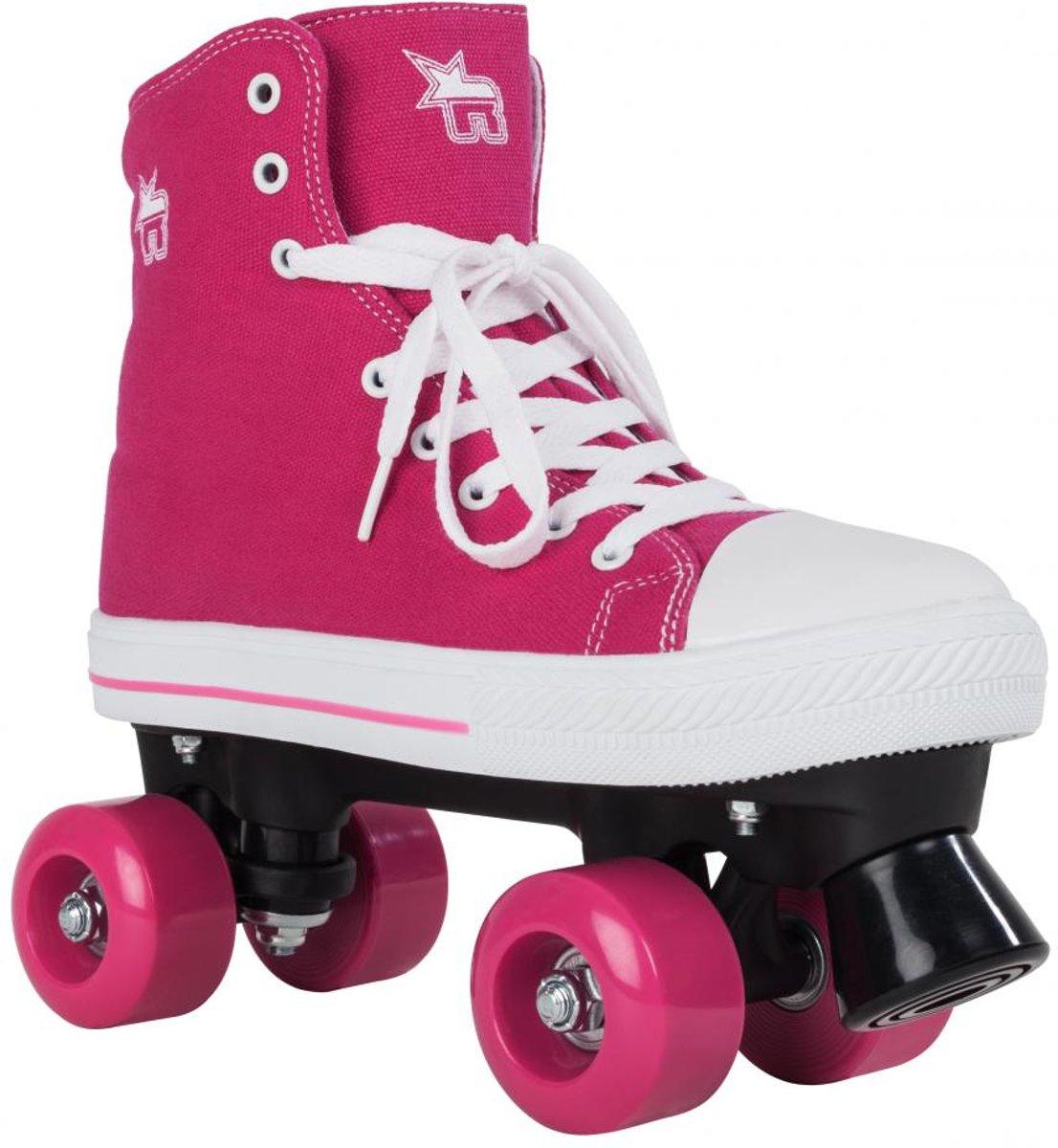 Rookie Rolschaatsen Canvas - Kinderen - Roze - Maat 34 kopen