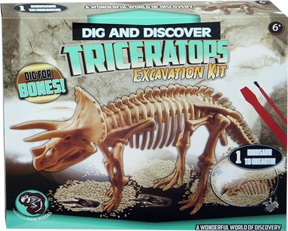 Jonotoys Opgravingsset Triceratops 4-delig kopen