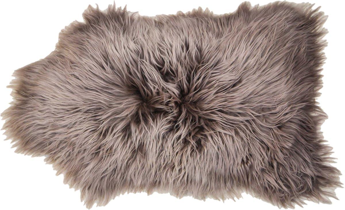 HSM Collection - IJslands schapenvacht langharig - ±100x70cm - taupe kopen