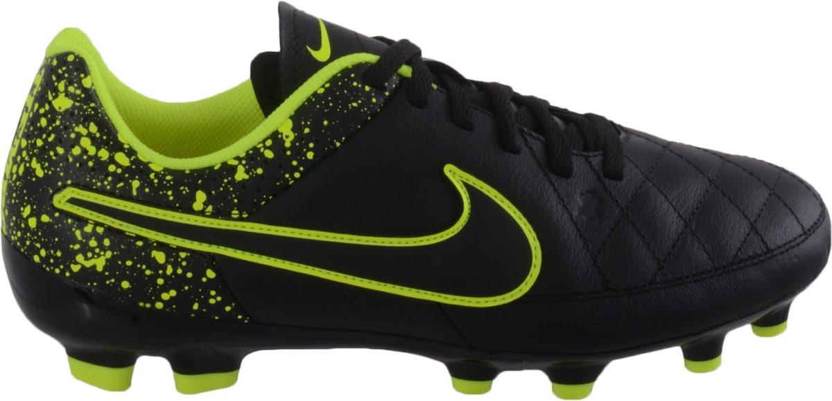 Nike - Tiempo Genio Fg Cuir Jr Football - Unisexe - Le Football - Noir - 33,5