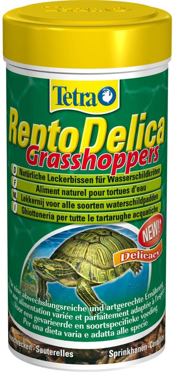 Tetra reptodelica sprinkhanen en krekels voor reptielen en schildpadden 250 ml