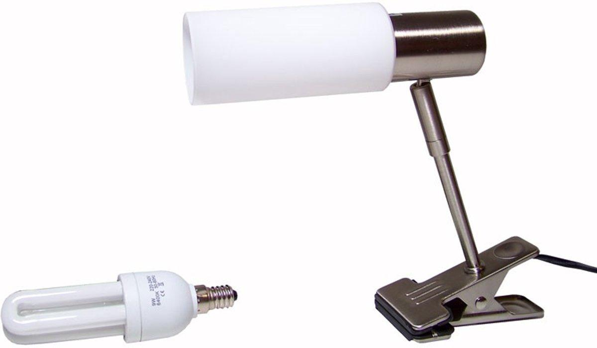 Klemlamp modern design met glazen lampenkap kopen