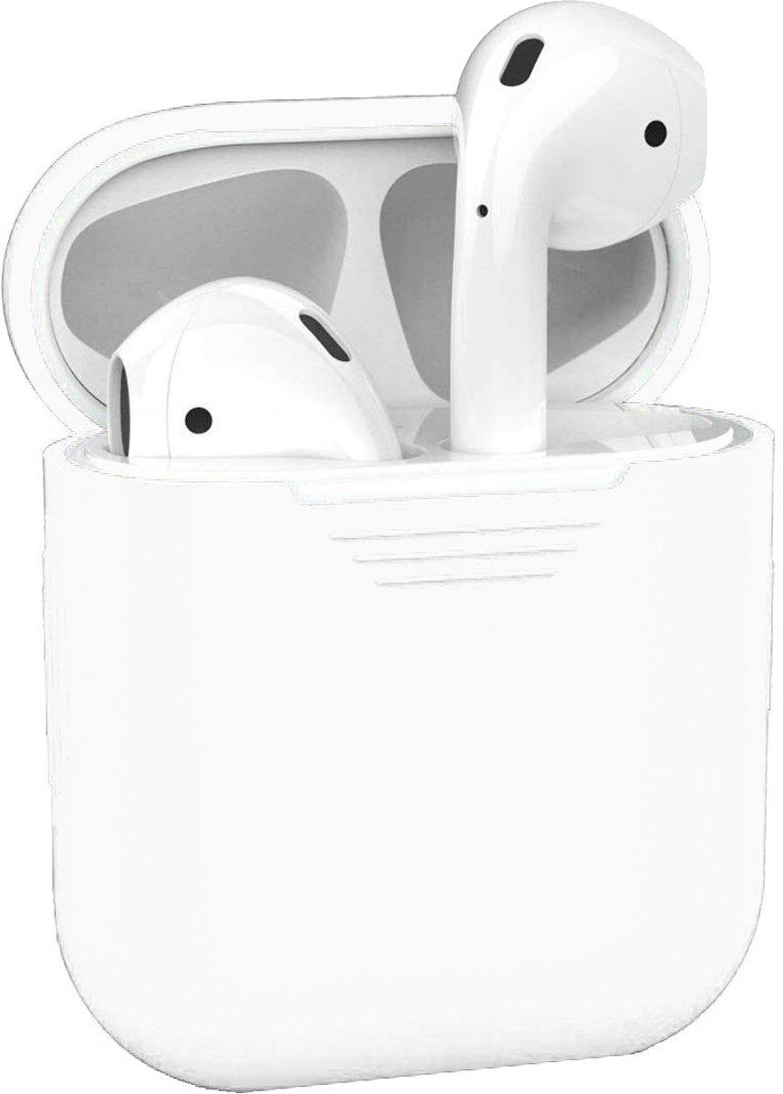 Siliconen Bescherm Hoesje Case Cover voor Apple AirPods 2 Hoes - Wit kopen