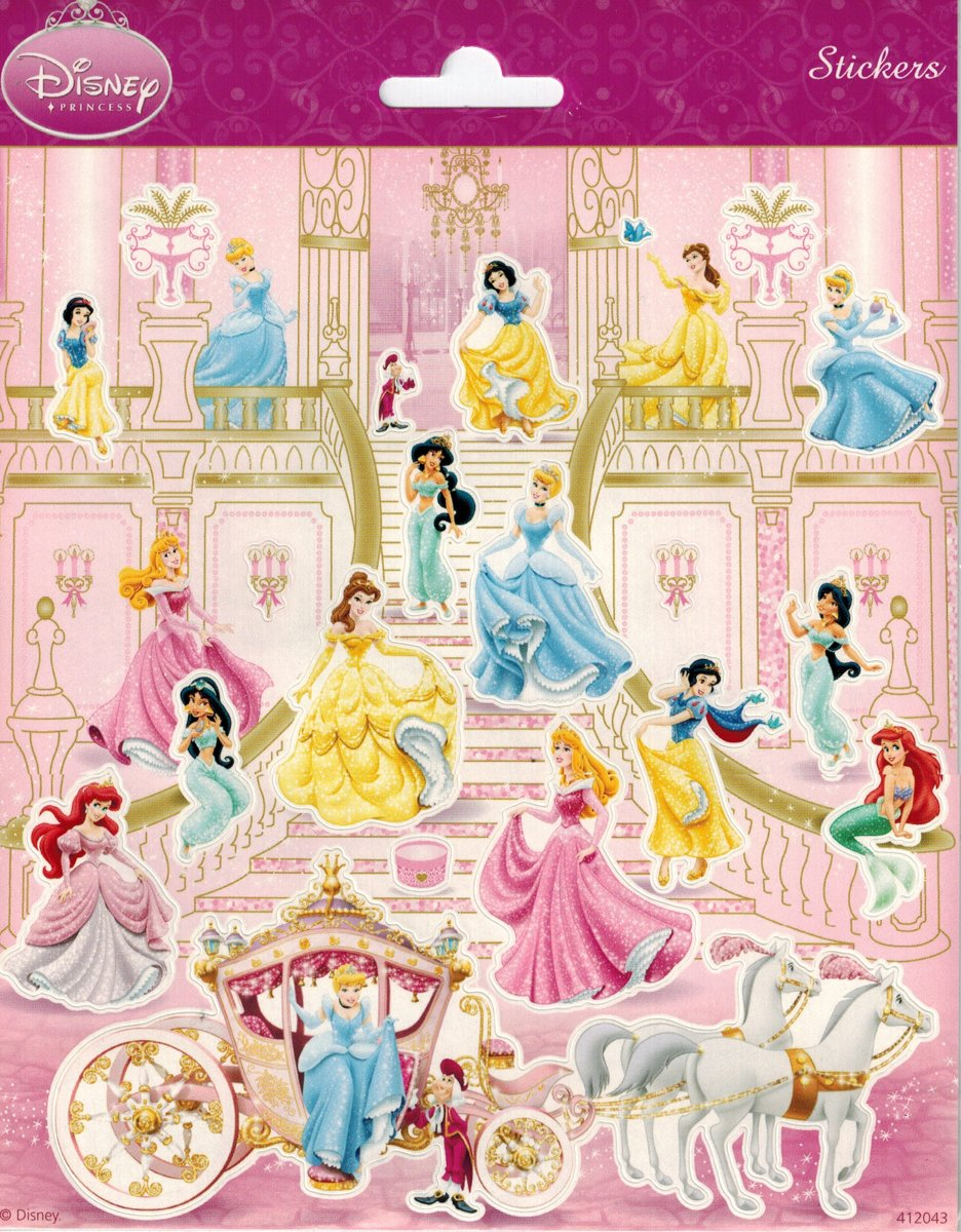 Prinses Stickers Disney - Koets