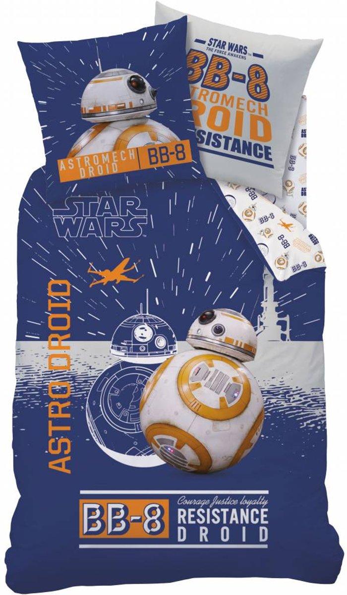 Star Wars BB8 - Dekbedovertrek - Eenpersoons - 140 x 200 cm - Multi kopen
