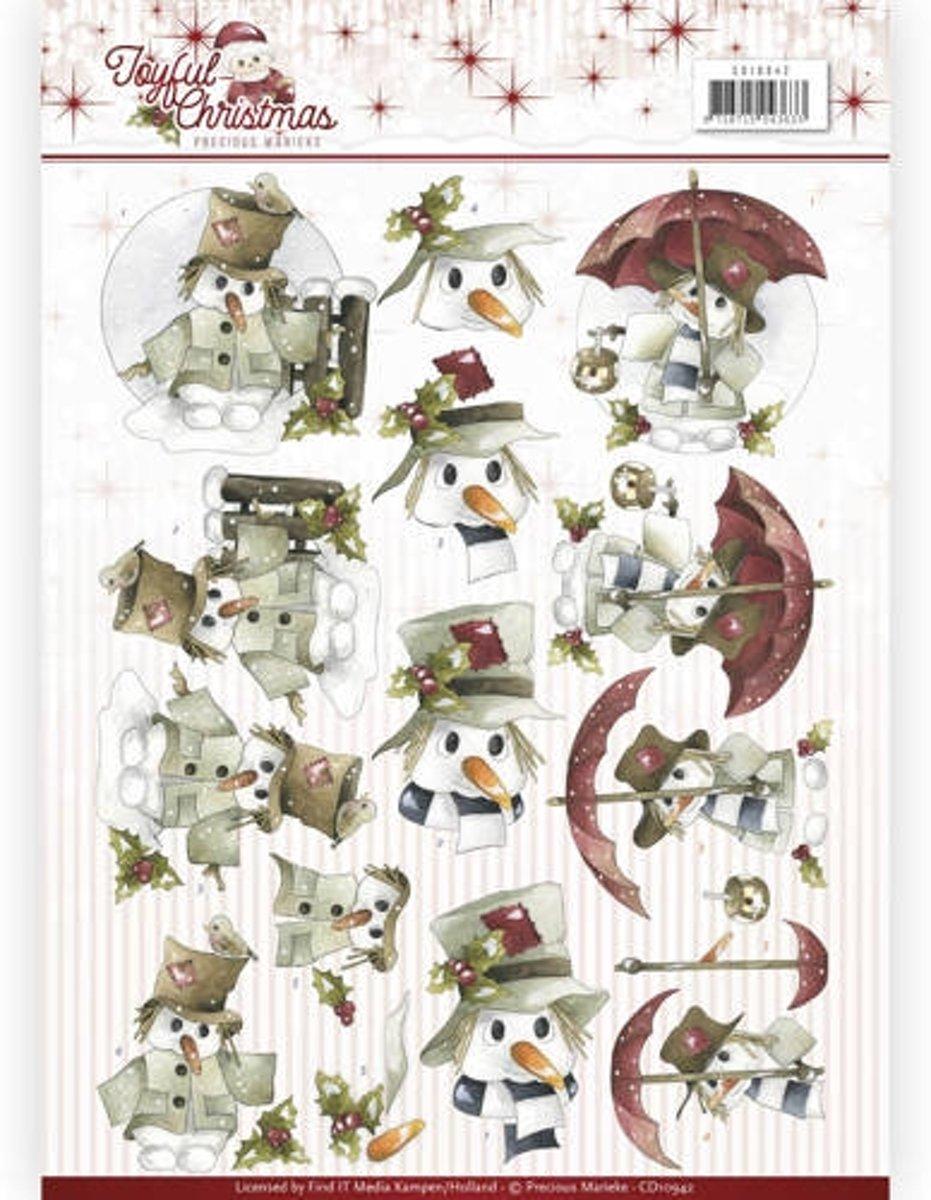 3D Knipvel - Precious Marieke - Joyful Christmas - Sneeuwman kopen