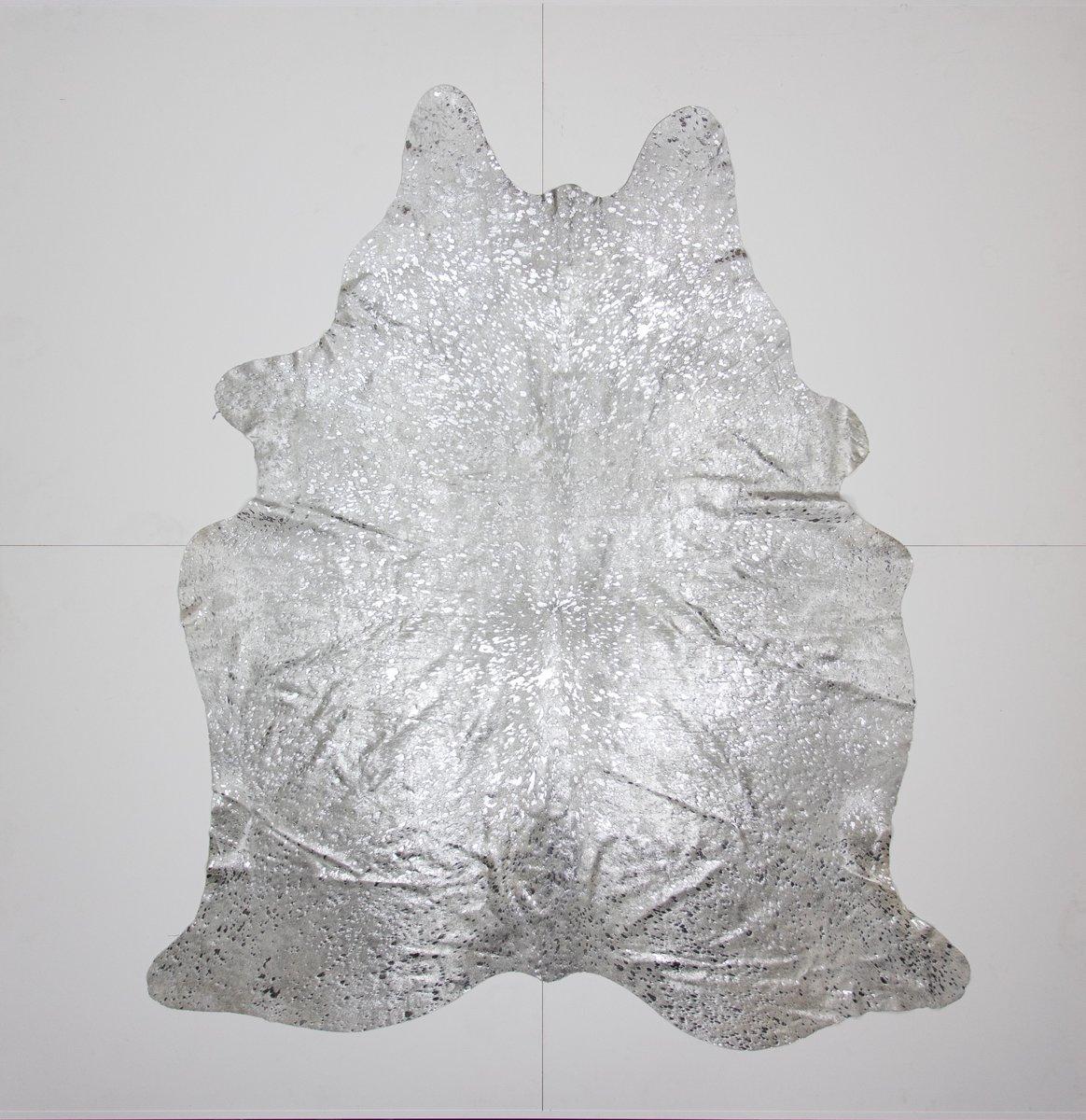 KOELAP Koeienhuid Vloerkleed - Grijs Disco - 185 x 215 cm - 1000781 kopen