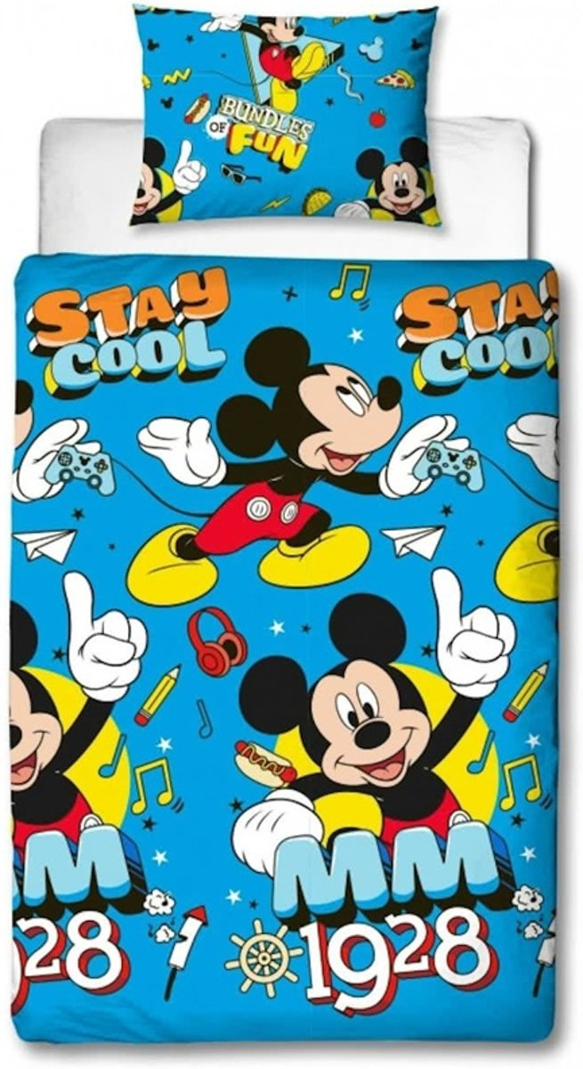 Mickey Mouse dekbedovertrek, 1 persoons Mickey Mouse dekbed kopen