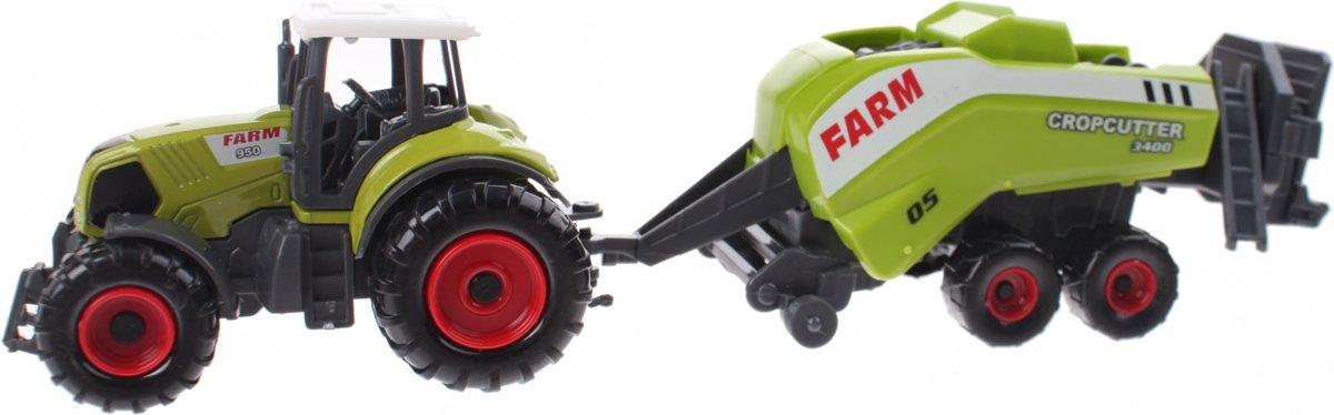 Johntoy Tractor Met Hakselaar Groen 22 Cm kopen