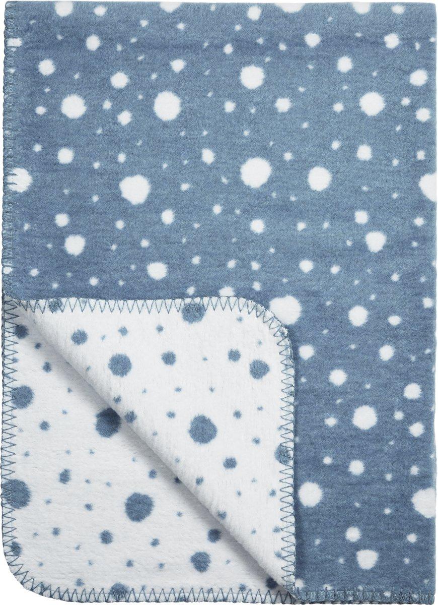 Meyco Dots Ledikantdeken - 120x150cm - jeans/wit