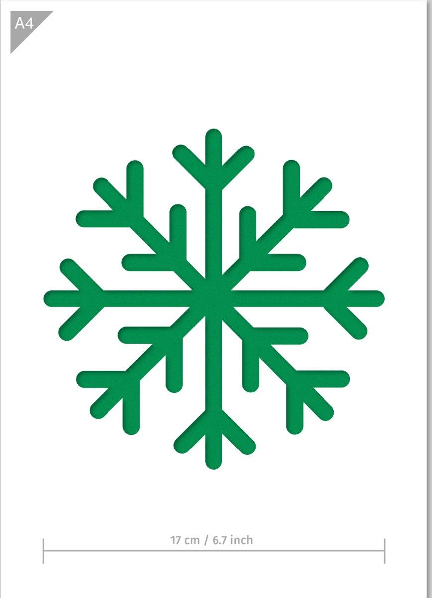 A4 Sneeuwvlok Sjabloon - Kunststof Sjabloon - Vlok is 17cm in doorsnede - Geschikt als raam decoratie sjabloon kopen