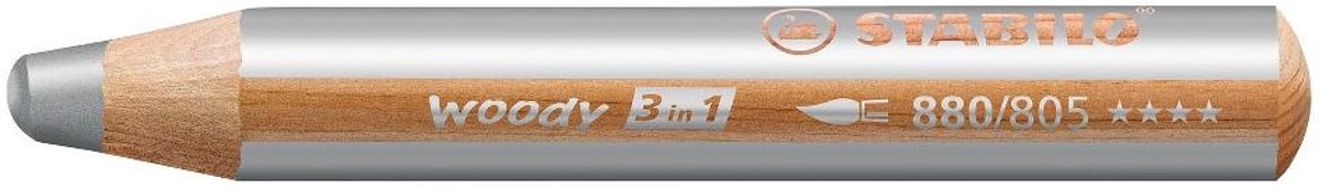 STABILO woody 3 in 1 kleurpotlood 1 stuk(s) Zilver kopen