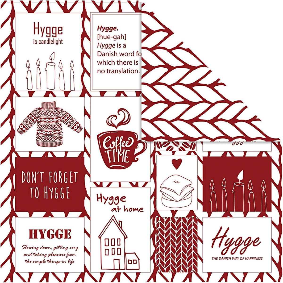 Design papier, vel 30,5x30,5 cm,  180 gr, , breiwerk, 5vellen [HOB-22525] kopen