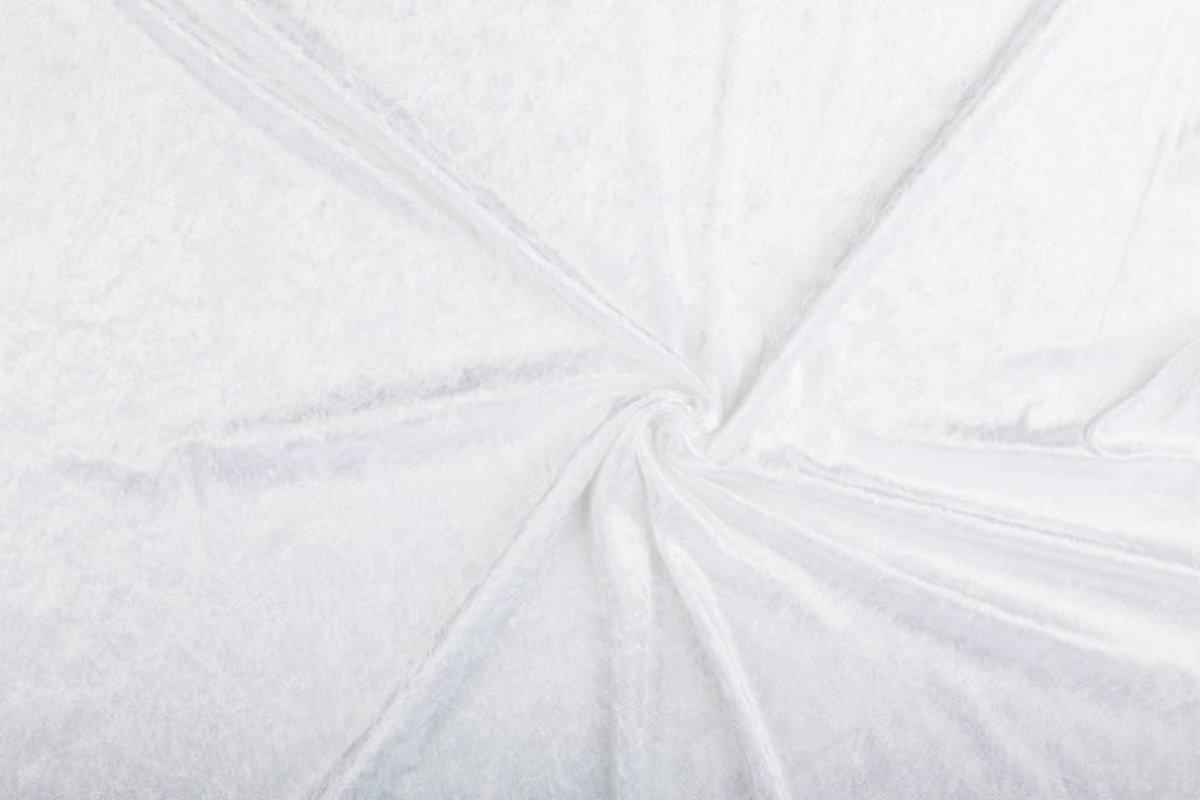 Velours de panne stof - Wit - 10 meter kopen