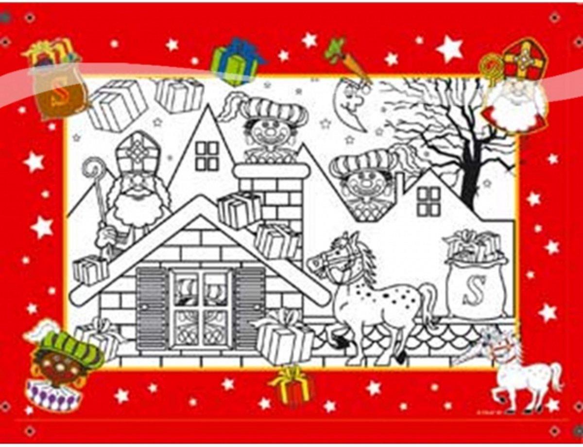 Sinterklaas kleurplaten 6 stuks kopen
