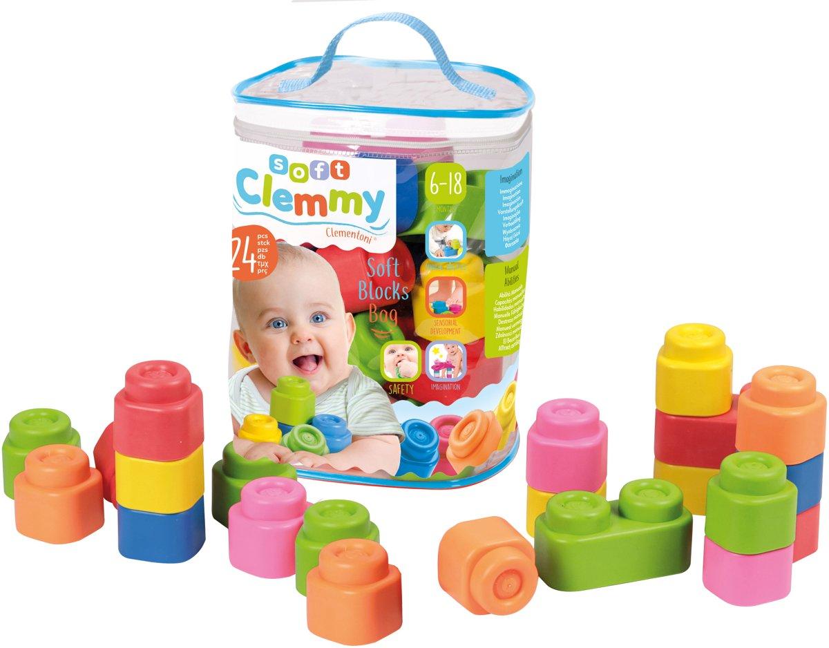 Clementoni Baby Clemmy tas met 24 zachte speelblokken kopen